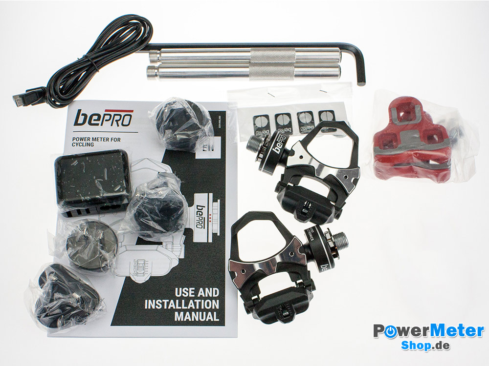 bePRO Powermeter Lieferumfang